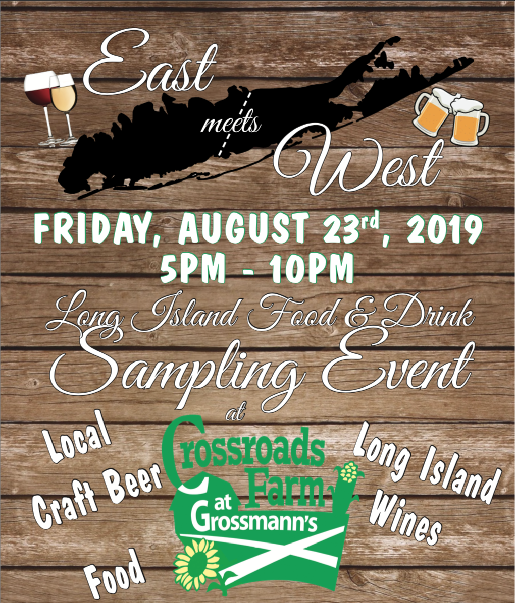 East Meets West Wine Tasting August 23rd 5 - 10